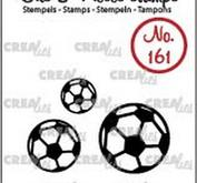 Crealies -   Clearstamp Bits & Pieces soccer balls