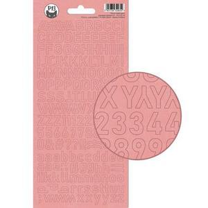 Alphabet sticker sheet  - rosa