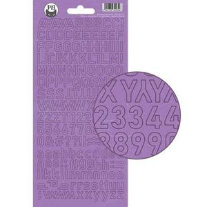 Alphabet sticker sheet  - lila