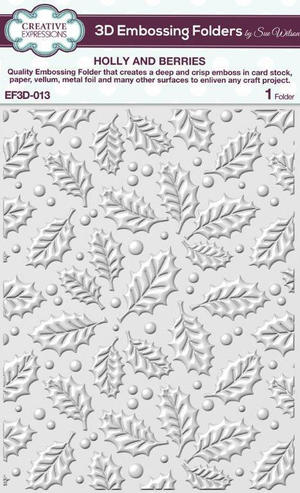 Creative expressons - Embossingfolder - Holly and berries