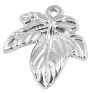 5 st silverfärgade löv