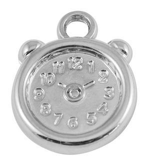 5 st silverfärgade klockor