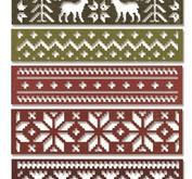 Sizzix Thinlits Die set - Snowfall & Holiday Knit