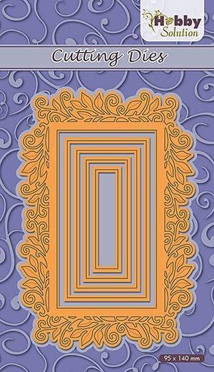 Nellie Snellen - Hobby Solution - Rectangle swirl frame