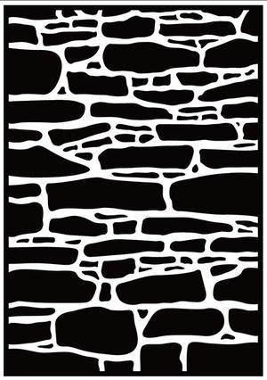 """Embossing folder - Nellie Snellen - stone wall"""""""