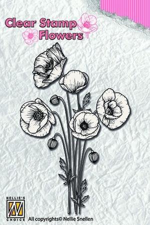 Nellie Snellen - Clearstamp - poppies