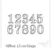 Rox Stamps die - Siffror