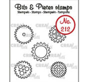Crealies - Clear stamps - kugghjul