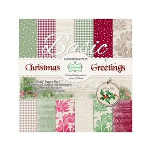 "Papperspack 12 x 12""  Basic christmas greetings"