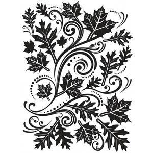 Darice- Embossingfolder - Fall leaves swirl