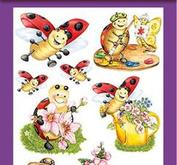 """Hearty Crafts 3D Relief Stickers A4 """"Ladybug"""""""