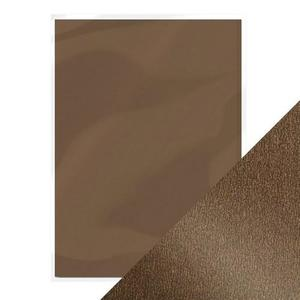 Craft Perfect -  pearlescent card - glazed chesnut