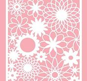 Nellie Snellen - Mixed media Stencil A6 - flowers