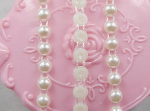 pärlband - 6mm ivory