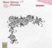 Nellie Snellen - Clear stamp - rose corner