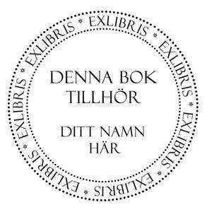 Personlig bokstämpel exlibris (PS005)