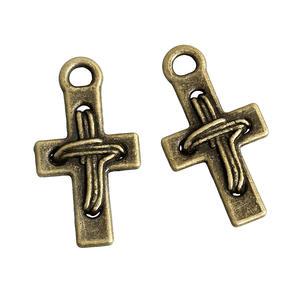 2 st kors antikfärgade