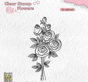 Nellie Snellen - Clear stamp -bouquet roses 2