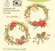 Leane Creatief - Clearstamps - Christmas wreath