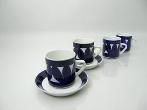 Kaffekoppar och fat, 2 st+2, Sotka, RU(SÅLD)
