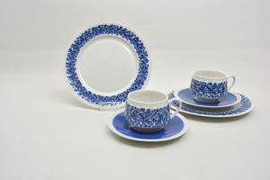 Kaffekoppar, fat och assietter 2 st, Doria, RU