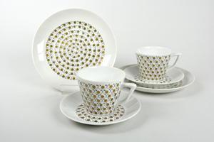 Kaffekoppar, fat och assietter 2 st, Mekka, ET