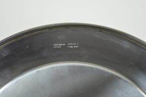 Serveringstallrik+ 3 skålar, stål, TS