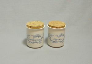 Maustepurkit, 2 kpl, Paprika ja Mustapippuri (MYYTY)