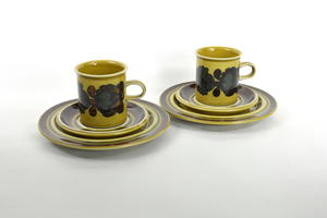 Kaakao-kahvikuppi ja alusvati+asetti, 2 st, Otso, RU(MYYTY)