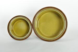 Skålar, 2 st, Otso, RU, Handmålad