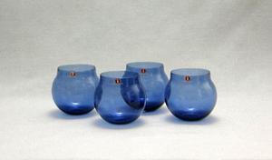 Cognackupor, 4 st, Aromaboll,  I-102 glas, blå, TS