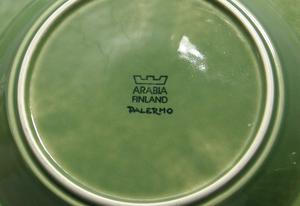 Tallrik, 6 st, Djup, Palermo, Grön