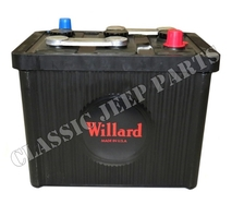 Battery 6 volt 98 ah Willard size 26x17x22cm