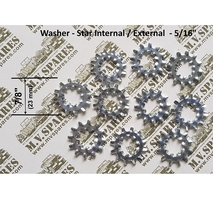 Kit with 10 bonding star washers 5/16""