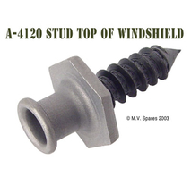 Stud top of windshield standard and late
