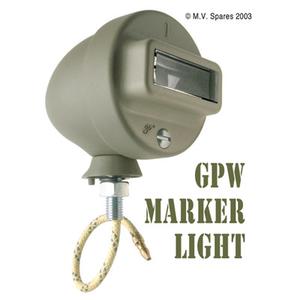 Mörkerljus i grill vänster med kabel FORD GPW F-märkt