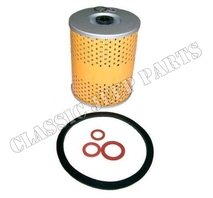 Oil filter element with gaskets