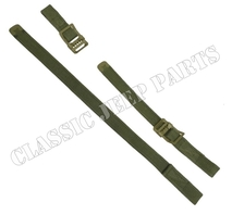 Axe and shovel strap set Olive Drab hardware C-tip and Anchor marked buckle