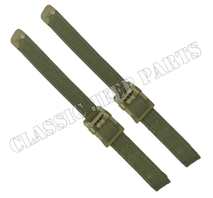 Top tie down strap set Olive Drab hardware C-tip and Anchor marked buckle