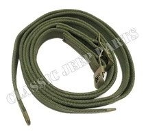 Top stowage strap set Olive Drab hardware C-tip and Anchor marked buckle