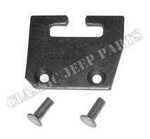 Control lever guide plate with rivets T84
