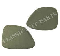 Canvas crash pads pair