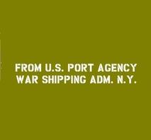 Shipping addition U.S. PORT AGENCY WAR SHIPPING ADM.  N.Y. (NEW YORK)