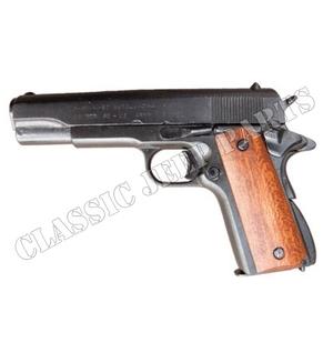 Colt 45 government med trähandtag (Replika)