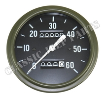 Speedometer miles long pointer early AUTOLITE WILLYS MB SLAT GRILL