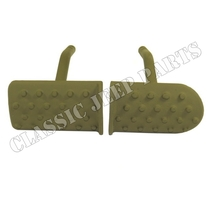 Clutch and brake pedals pair cast WILLYS MB SLAT GRILL