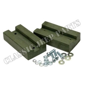 Hood blocks green rubber pair early WILLYS MB FORD GPW
