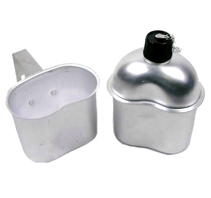 Fältflaska med kopp M1910 Rostfritt stål