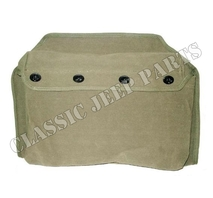 Canvas seat satchel front seat