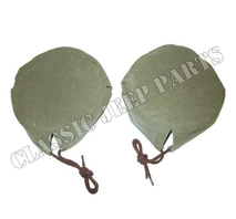 Canvas cover headlamp pair